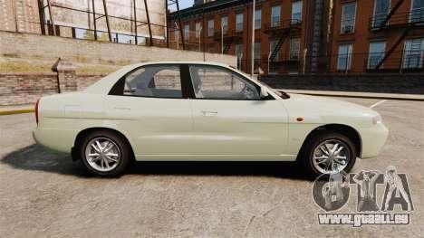 Daewoo Nubira I Sedan CDX PL 1997 pour GTA 4 est une gauche