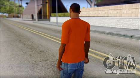 Fred Perry T-Shirt Orange für GTA San Andreas zweiten Screenshot