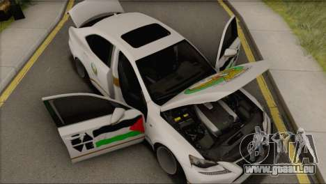 Lexus IS350 FSport 2014 Hellaflush für GTA San Andreas Rückansicht