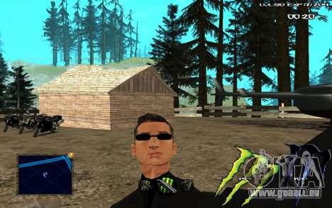 C-HUD Monster Energy pour GTA San Andreas deuxième écran