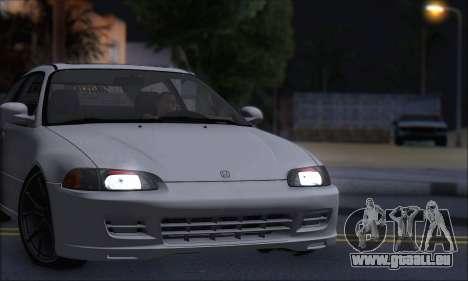 Honda Civic 1995 pour GTA San Andreas vue de droite