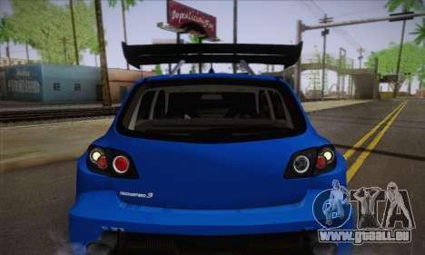 Mazda Speed 3 Tuning pour GTA San Andreas vue de côté