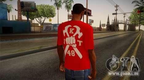 JKT48 Hardcore T-Shirt pour GTA San Andreas deuxième écran