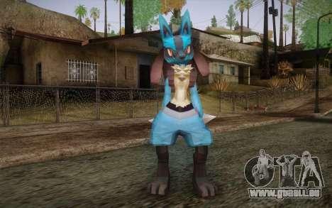 Lucario from Pokemon pour GTA San Andreas