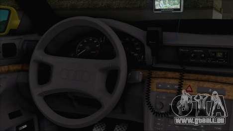 Audi A4 1.9 TDI 2000 Taxi pour GTA San Andreas sur la vue arrière gauche