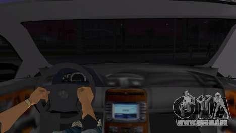 Mercede-Benz CL65 AMG Limousine für GTA Vice City zurück linke Ansicht