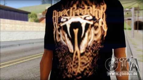 Randy Orton Black Apex Predator T-Shirt für GTA San Andreas dritten Screenshot