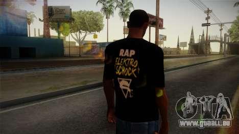 Silla Rap Elektro Schock Shirt pour GTA San Andreas deuxième écran