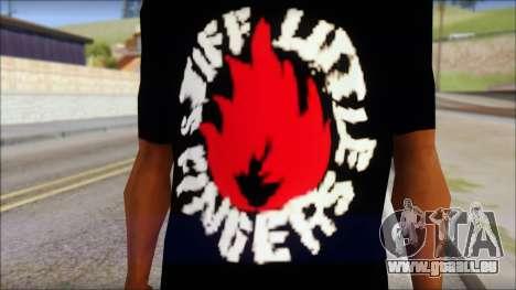Stiff Little Fingers T-Shirt für GTA San Andreas dritten Screenshot