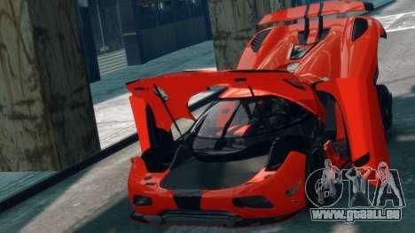 Koenigsegg Agera R 2013 für GTA 4 Rückansicht