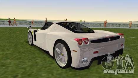 Ferrari Enzo 2003 pour une vue GTA Vice City de la gauche