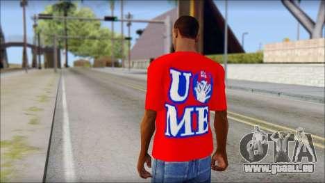 John Cena Red Attire T-Shirt pour GTA San Andreas deuxième écran