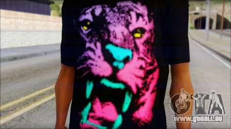 Wild POP Thing Shirt pour GTA San Andreas troisième écran