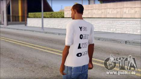 YOLO T-Shirt pour GTA San Andreas deuxième écran