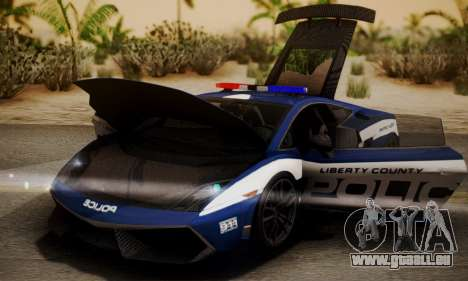 Lamborghini Gallardo LP570-4 2011 Police pour GTA San Andreas vue de droite
