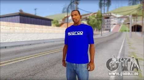 Sparco T-Shirt für GTA San Andreas