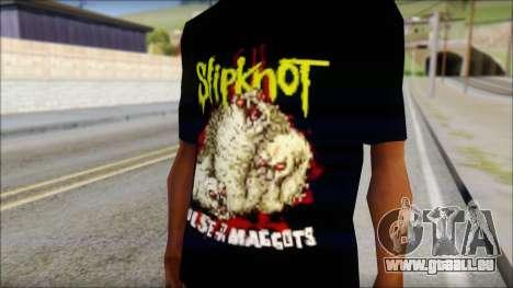SlipKnoT T-Shirt v5 für GTA San Andreas dritten Screenshot