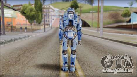 Masterchief Blue from Halo für GTA San Andreas dritten Screenshot