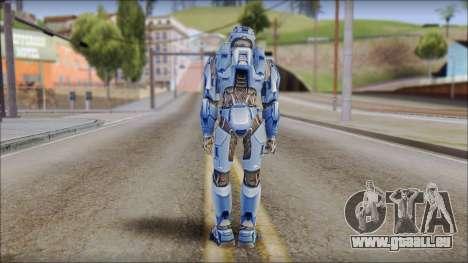 Masterchief Blue from Halo pour GTA San Andreas troisième écran