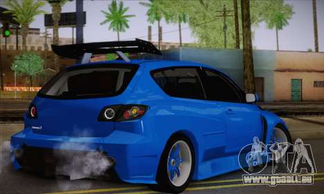 Mazda Speed 3 Tuning pour GTA San Andreas laissé vue