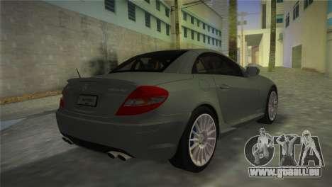 Mercedes-Benz SLK55 AMG pour une vue GTA Vice City de la gauche