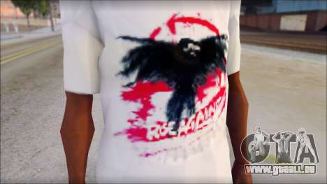 Rise Against T-Shirt V2.1 pour GTA San Andreas troisième écran
