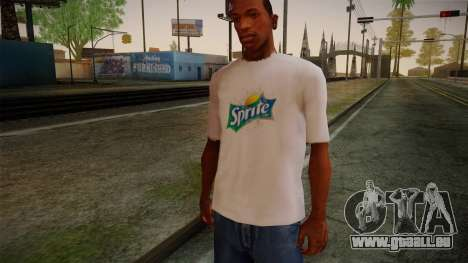 Sprite Shirt White pour GTA San Andreas