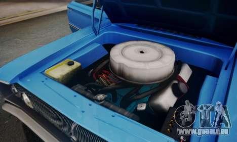 Dodge Coronet 440 Hardtop Coupe (WH23) 1967 pour GTA San Andreas vue de dessus