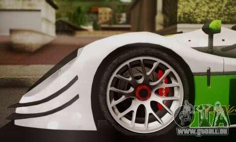 Radical SR8 Supersport 2010 pour GTA San Andreas sur la vue arrière gauche