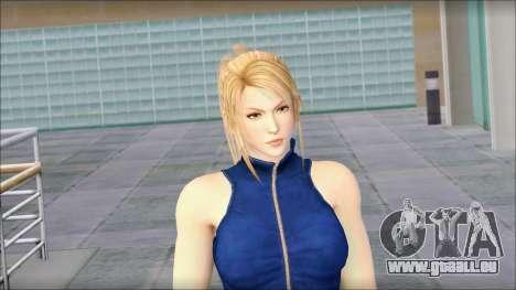 Sarah from Dead or Alive 5 v2 pour GTA San Andreas troisième écran