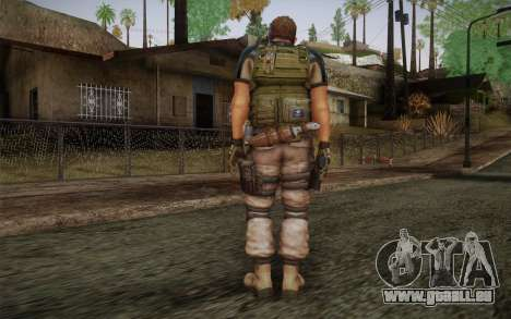 Chris Redfield from Resident Evil 6 für GTA San Andreas zweiten Screenshot