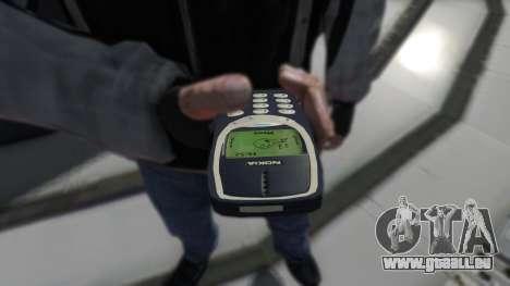 NOKIA 3310 für GTA 4 Sekunden Bildschirm