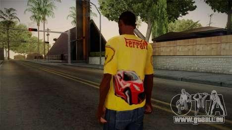 Ferrari T-Shirt pour GTA San Andreas deuxième écran