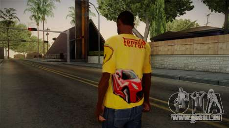 Ferrari T-Shirt für GTA San Andreas zweiten Screenshot