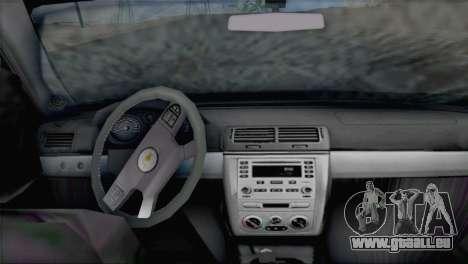 Chevrolet Cobalt SS pour GTA San Andreas sur la vue arrière gauche