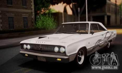 Dodge Coronet 440 Hardtop Coupe (WH23) 1967 pour GTA San Andreas vue de dessous