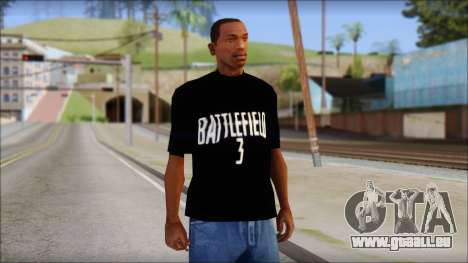Battlefield 3 Fan Shirt pour GTA San Andreas