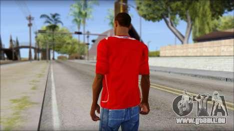 Chile T-Shirt pour GTA San Andreas deuxième écran
