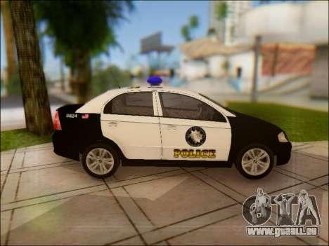 Chevrolet Aveo Police pour GTA San Andreas vue intérieure