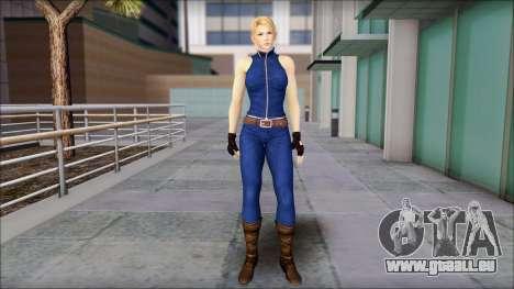 Sarah from Dead or Alive 5 v2 für GTA San Andreas