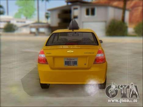 Chevrolet Aveo Taxi für GTA San Andreas Innenansicht
