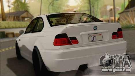 BMW M3 E46 Black Edition für GTA San Andreas linke Ansicht