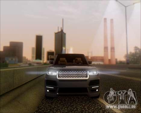 Land Rover Range Rover Startech pour GTA San Andreas laissé vue