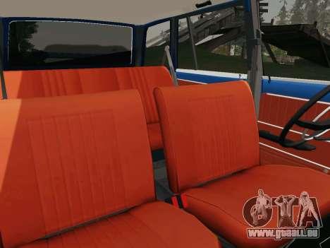 VAZ 21032 pour GTA San Andreas vue de dessus