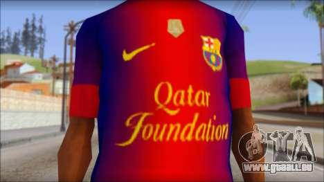 Barcelona Messi T-Shirt für GTA San Andreas dritten Screenshot