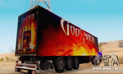 Godsmack - 1000hp Trailer 2014 pour GTA San Andreas vue de droite