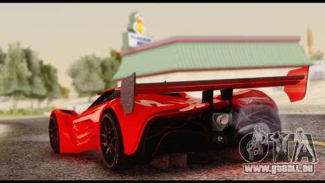 Mazda Furai 2008 für GTA San Andreas linke Ansicht