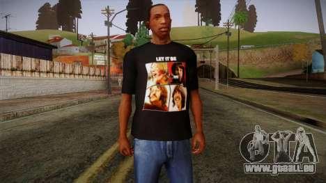 The Beatles Let It Be T-Shirt für GTA San Andreas