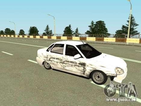 VAZ 2170 für GTA San Andreas Rückansicht