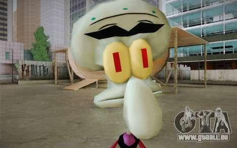 Squilliam from Sponge Bob pour GTA San Andreas troisième écran